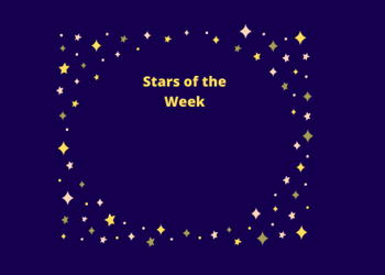 Primary Stars of the Week  -29th November 2019