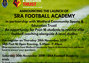 Announcing the launch of the SRA Football Academy!